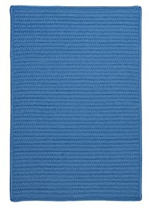 Simply Home Solid Rug, 4 by 6-Feet, Blue Ice