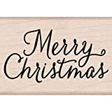 Hero Arts Rubber Stamps Merry Christmas Script Woodblock Stamp