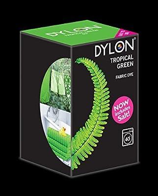 Tinte para lavadora, Dylon, color Tropical Green. 350 g. Incluye ...