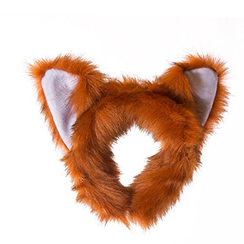 Wildlife Tree Plush Red Panda Ears Headband Accessory for Red Panda Costume, Cosplay, Pretend Animal Play or Safari Party Costumes