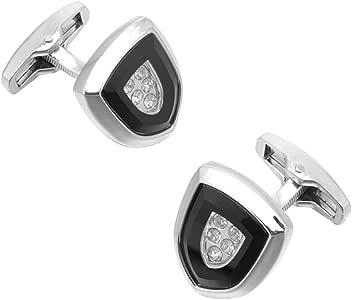 CCJIAC Gemelos para Hombre de Cristal con Forma de Escudo Regalo de Boda Camisa Hombre Botones de puño Gemelos de Plata chapados para Hombres: Amazon.es: Deportes y aire libre