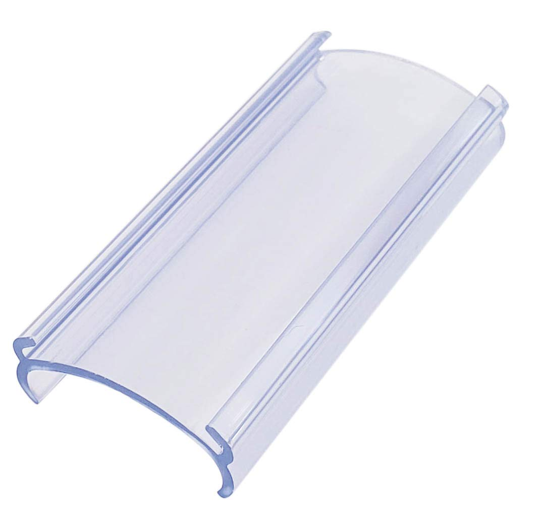 Plastic Label Holders 3''L x 1.25'' H Wire Shelf Label Holders(Fits Metro and Nexel) - 40 Pack