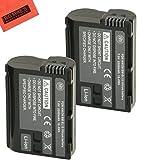 BM Premium EN-EL15 Batteries for Nikon 1 V1, D500, D600, D610, D750, D800, D810, D810A, D7000, D7100, D7200 Digital SLR Camera (Pack of 2)