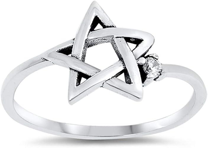 Sterling Silver Star of David Charm Ring Unisex Judaica