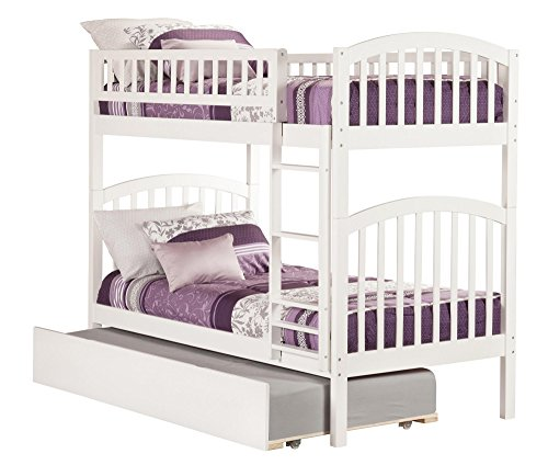 Richland Bunk Bed with Urban Trundle, Twin Over Twin, (Arch Slat Bedroom Set)