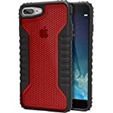 Silk iPhone 7 Plus Tough Case - Silk Armor iPhone 7+ [Rugged Grip] Includes 2 Glass Screen Protectors - Crimson