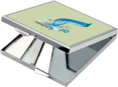 مرآة جيب، بتصميم تهنئة بالعيد ، شكل مربع