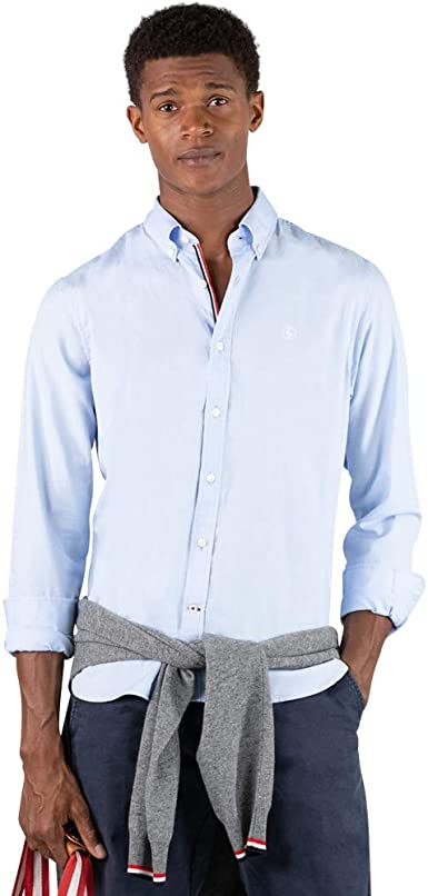 El Ganso - Colección AW19 - Camisa Oxford Lisa - para Hombre - Manga Larga - Cuello de Doble Botón: Amazon.es: Ropa y accesorios