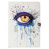 iPad 9.7 inch Case, Gift-Hero(TM) PU Leather Folio Smart Cover with Auto Wake/Sleep Feature Stand Protection Case for Apple iPad Air/Air 2/ iPad 9.7 2017/2018 Tablet (Big Eyes)