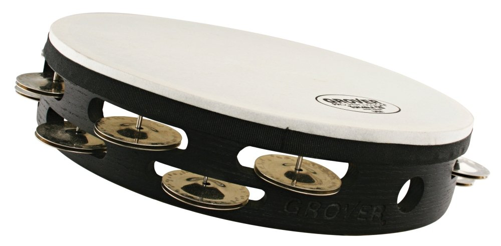 Grover Pro Projection-Plus Double-Row Tunable German Silver Tambourine 10 in.