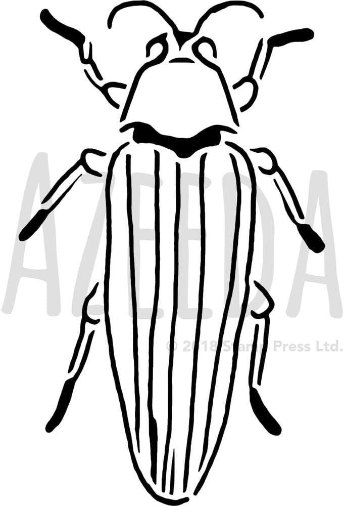 Azeeda Grande A2 Cucaracha Plantilla de Pared / Estarcir ...