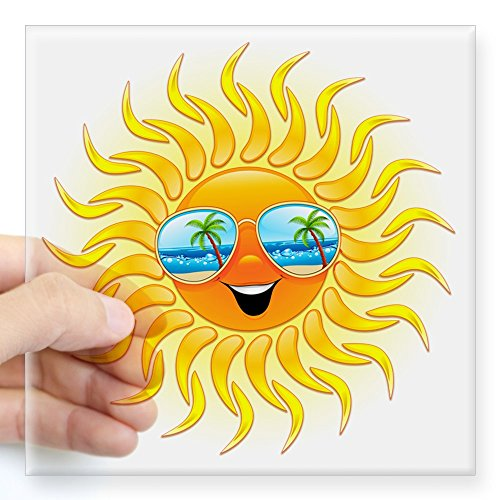 CafePress Summer Cartoon Sunglasses Sticker