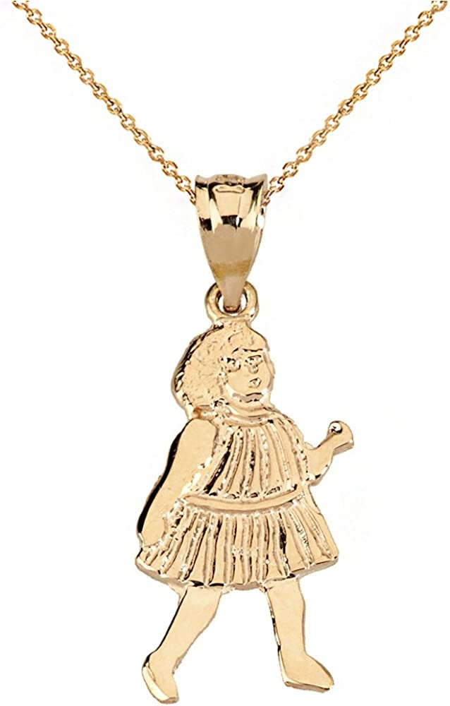 gold necklace for little girl