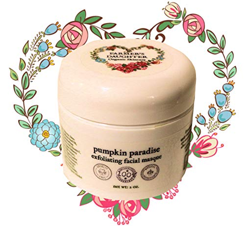 (Pumpkin Paradise Exfoliating Facial Masque (2 oz) Glycolic Acid Peel Face Mask with Vital Collagen Peptides, Best Mask for Acne, No Burning, Starts Clearing Overnight, Lightens Scars and Dark Spots)