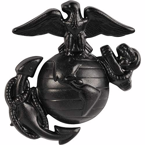 Medals of America Marine Corps Globe and Anchor Cap Device Black Enlisted One Size
