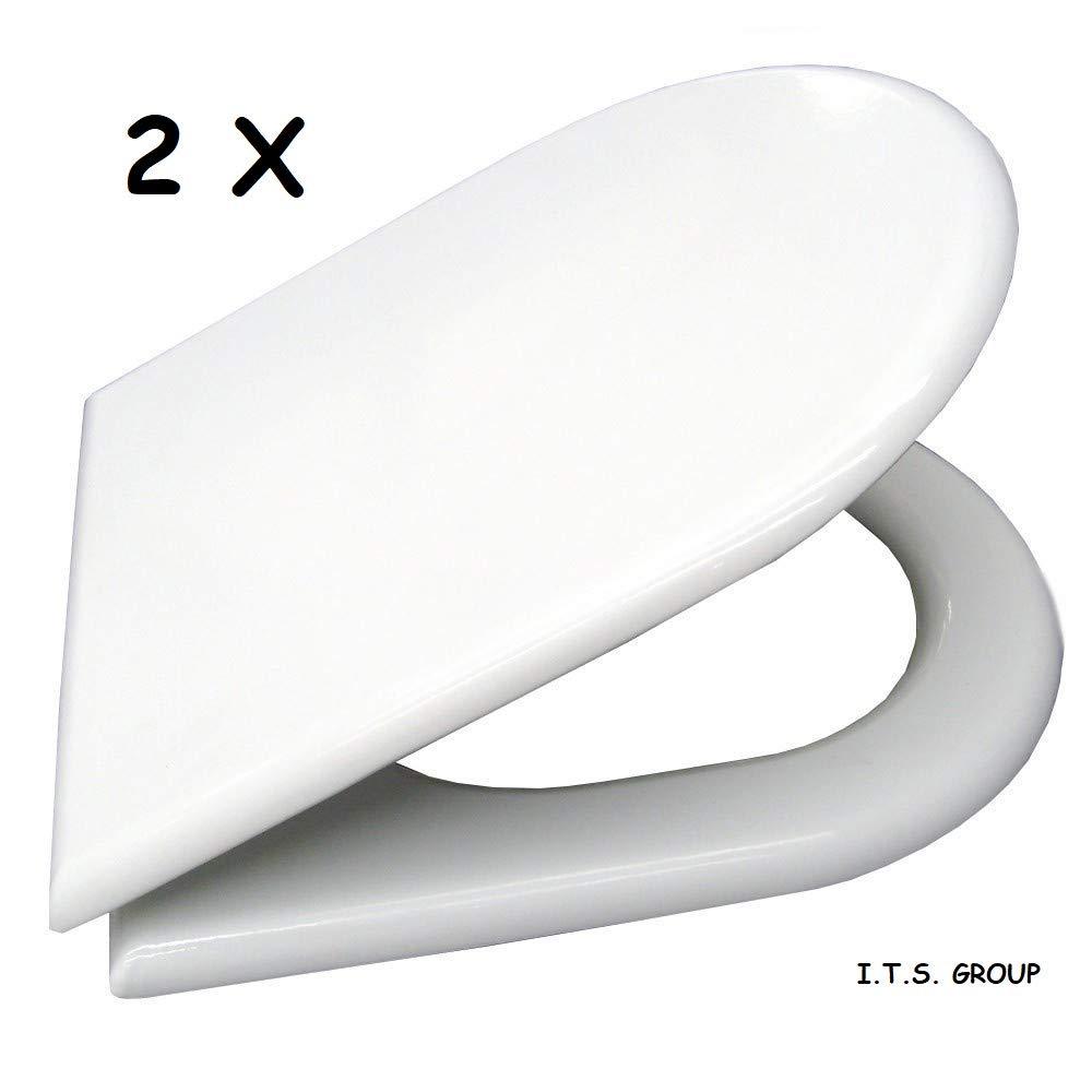 Marca ACB l/ínea Smart Bisagras de acero inoxidable 2 x Asientos para tapa de inodoro Esedra Ideal Standard