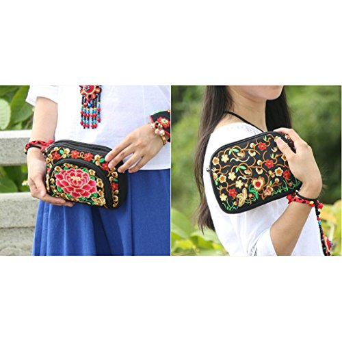 3 Gift Vintage Crafts Embroidered Purse For Mothers Style Friends Bags Perfk Ethnic National Hand 8vOq41