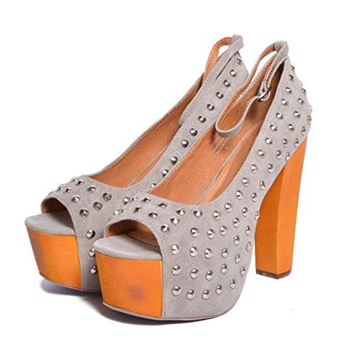 Jeffrey Campbell - Zapatos de vestir de Piel para mujer Gris gris 37