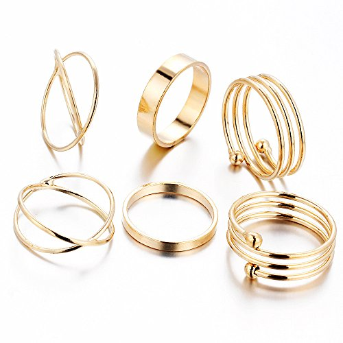 6pcs Knuckle Rings - 7