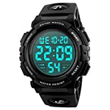 SKMEI Large Face Digital Men's Watch Sports Waterproof LED Military Wristwatches Chronograph Alarm Clock