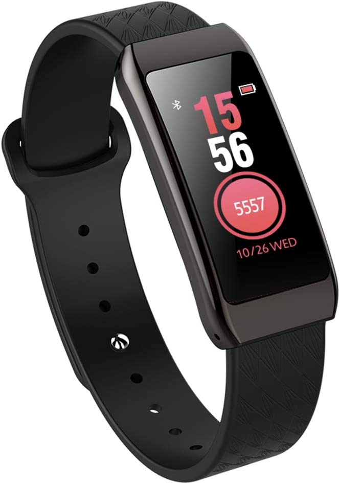 ALXDR Fitness Tracker Smart Fashion Band with Heart Rate Blood Pressure Sleep Monitor, IP67 Waterproof, Smart Watch for Woman,Black 51A2BAq1EvFL