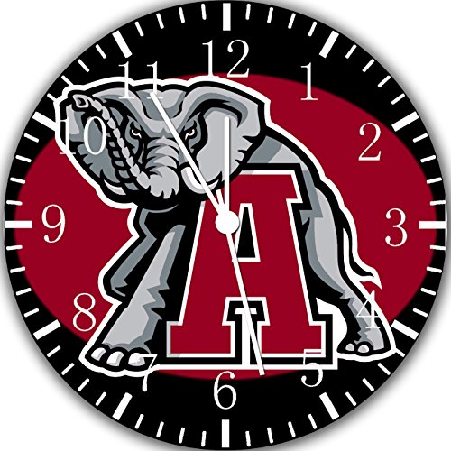 Alabama Crimson Tide Frameless Borderless Wall Clock X53 Nice For Gift or Room Wall (Alabama Crimson Tide Alarm)