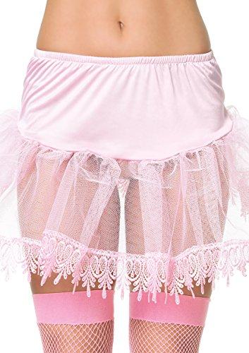 Leg Avenue Women's Teardrop Lace Petticoat Dress, Pink, One (Pink Teardrop Petticoat)