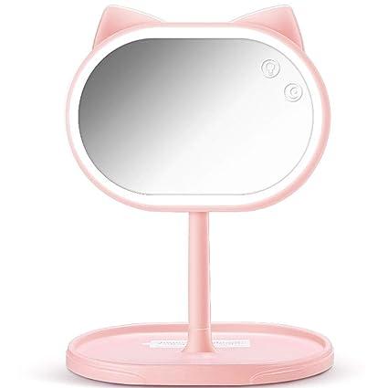 Handheld Mirrors Makeup Mirror Led Fox Makeup Mirror With Light - Fox-makeup