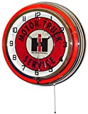 18″ INTERNATIONAL Harvester IH Motor Truck Service Sign Double Neon Lighted Wall Clock