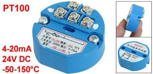 eDealMax PT100 Transmisor de temperatura Sensor -50-150C Salida de 4-20 mA 24VDC
