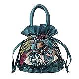 Womens Ladies Handbag Drawstring Bucket Bag Coin Purses Key Bags Cash Money Phone Pouches - Green