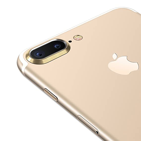 brand new fa430 3b918 Sakula Camera Lens Protector Plating Aluminum for iPhone 7 Plus iPhone 8  Plus Cameral Case Cover Ring Gold