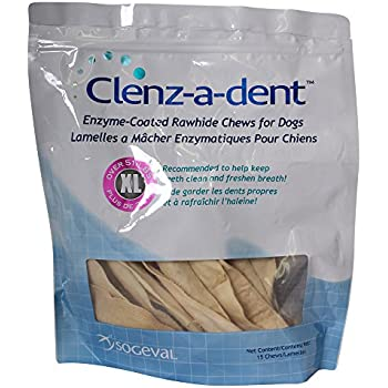 Amazon.com : Clenzadent Rawhide Chews for Dogs Small (30