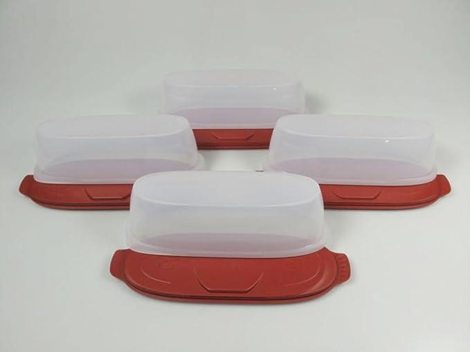 Kühlschrank Dose Aufschnitt : Tupperware wurstbox wurst theke rot 4 max wurst kühlschrank