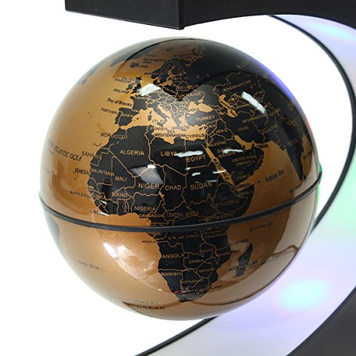 Meco funny c shape magnetic levitation floating globe rotating world meco funny c shape magnetic levitation floating globe rotating world map with colored led light anti gumiabroncs Choice Image