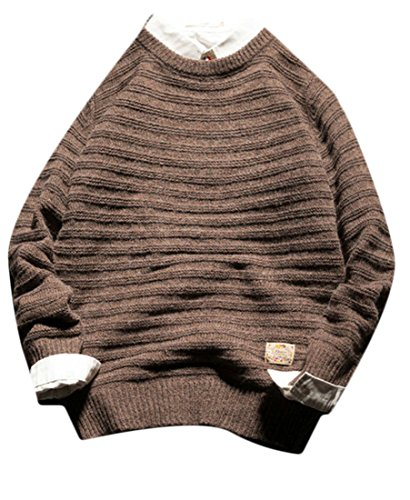 Sweater Long Knit UK today 1 Mens Pullover Crewneck Sleeve Solid HxUqT8qw