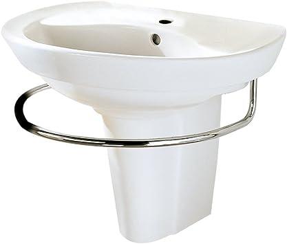 American Standard 0268 144 020 Ravenna Wall Mount Pedestal Sink With Center Hole White American Standard Wall Mounted Bathroom Sink Amazon Com