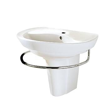 American Standard 0268 144 020 Ravenna Wall Mount Pedestal Sink with Center  Hole  White. American Standard 0268 144 020 Ravenna Wall Mount Pedestal Sink