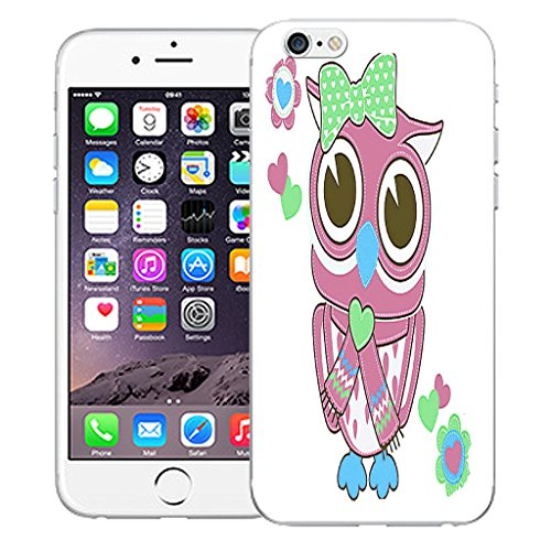 "Mobile Case Mate iPhone 6S Plus 5.5"" Silicone Coque couverture case cover Pare-chocs + STYLET - Lady Owl pattern (SILICON)"