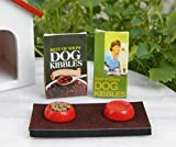 Miniature Dollhouse Fairy Garden Accessories Dog Food & Dish Set