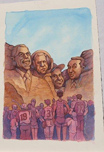 david-wenzel-original-published-art-coach-isms-2005-sports-superbowl-bill-parcells-joe-torre-mike-kr