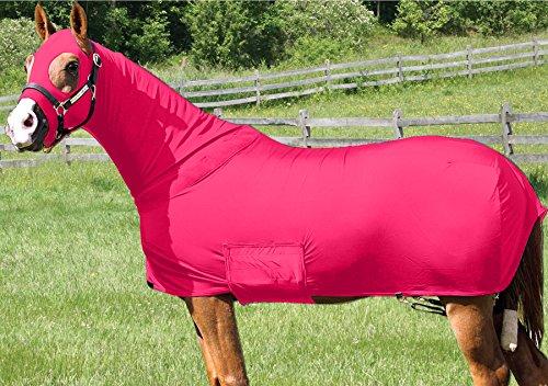 Horse Full Body Sleazy/Slicker / Sheet/Blanket with Full Separating Zipper Medium/HOT (Lycra Full Body Medium Horse)
