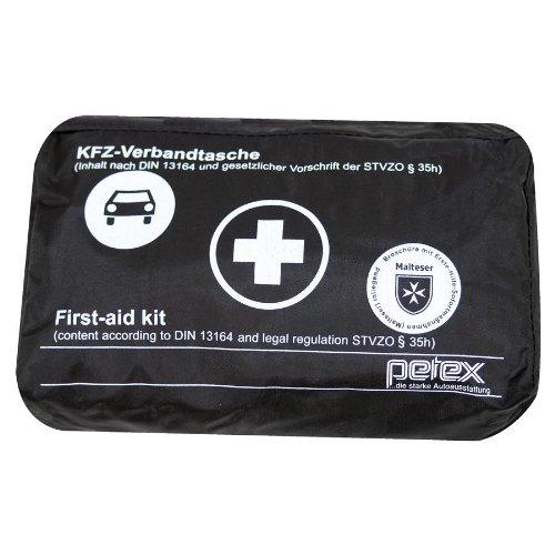 Petex 43930004 Verbandtasche Inhalt nach DIN 13164, schwarz