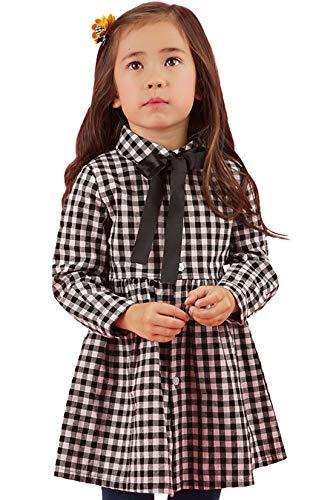 - SenseFit Kids Girls Long Sleeve Casual Stripe Dresses 3-8 Years