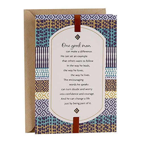 Hallmark Mahogany Father's Day Greeting Card (Good Man Who Makes a Big Difference)