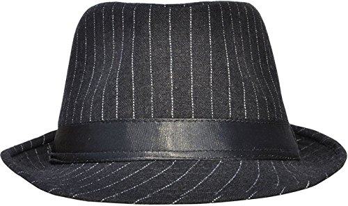 Unisex Men Womens Classic Manhattan Short Brim Fedora Hat (Fedoras Hat)