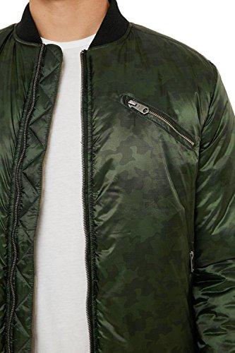 Threadbare Uomo Camo Imbottita Green Mongrel Giacca Khaki V2 a6wxa8qr