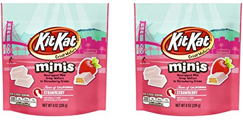 Kit Kat Minis Crisp Wafers in Strawberry Creme 8 oz (Pack of ()