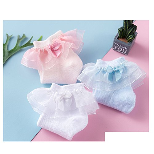 New Lovely Ruffle Lace Cotton Baby Girls Socks(0M-7Y) by CoCoUSM (Image #4)