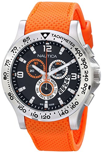 Nautica Men's N19601G NST 600 Chrono Carving Color Sport Classic Analog with Enamel Bezel Watch